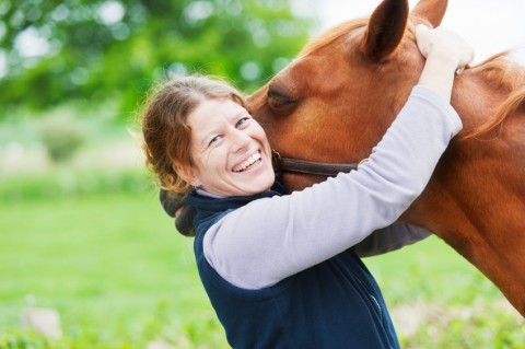 Client with horse